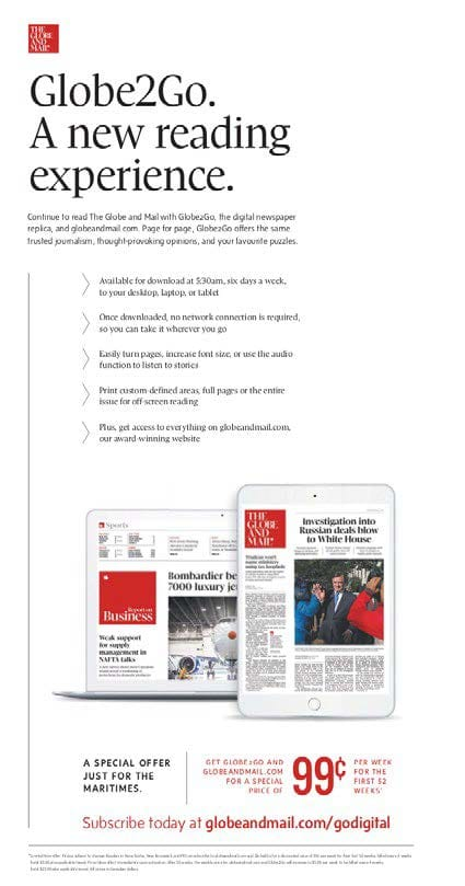 The Globe capitalized on it with its Globe2Go digital edition
