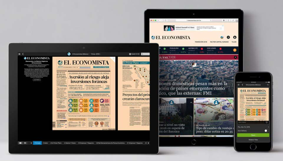 El Economista's web-service allows users to log in to each with the same username and password across all of their digital properties.