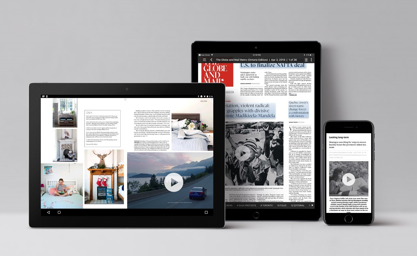 The Globe and Mail on Branded Editions technology